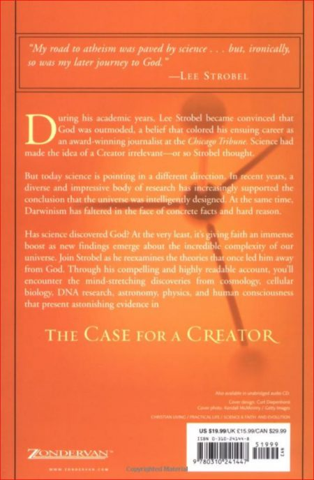 The Case for a Creator (rear cover)