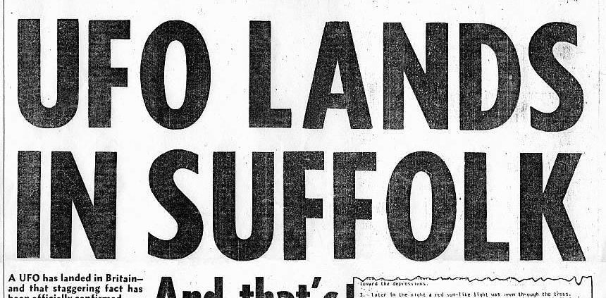 UFO landing - newspaper article