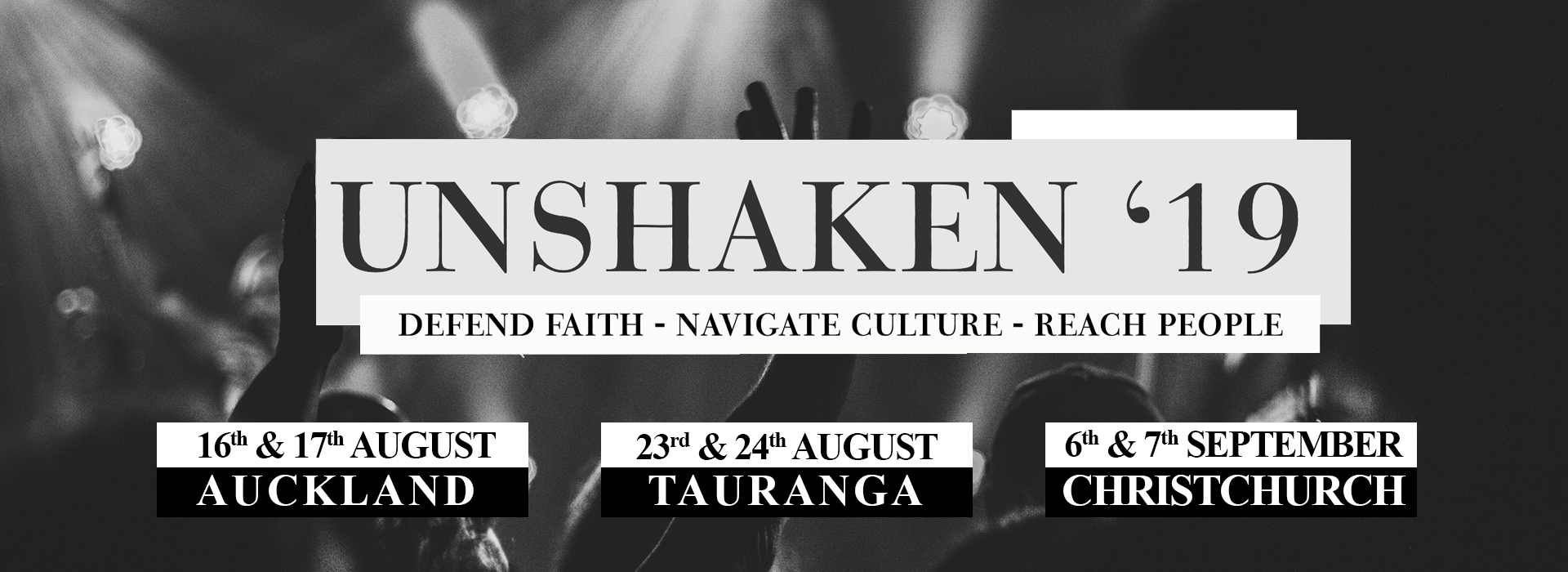 unshaken website banner